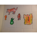 Look at our lovely art done with Ms Lena.