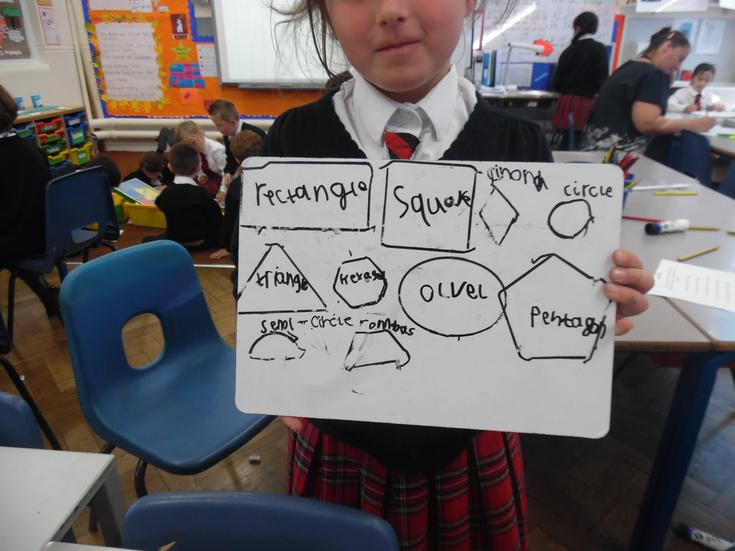 Exploring 2D shapes in Maths