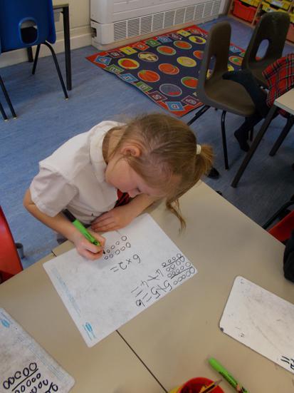 We also drew spots to make arrays.
