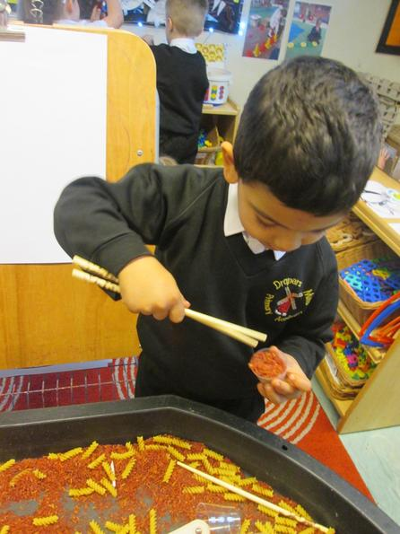 Perfecting chopstick skills