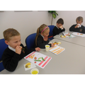 We tasted fruit, vegetables and bread.