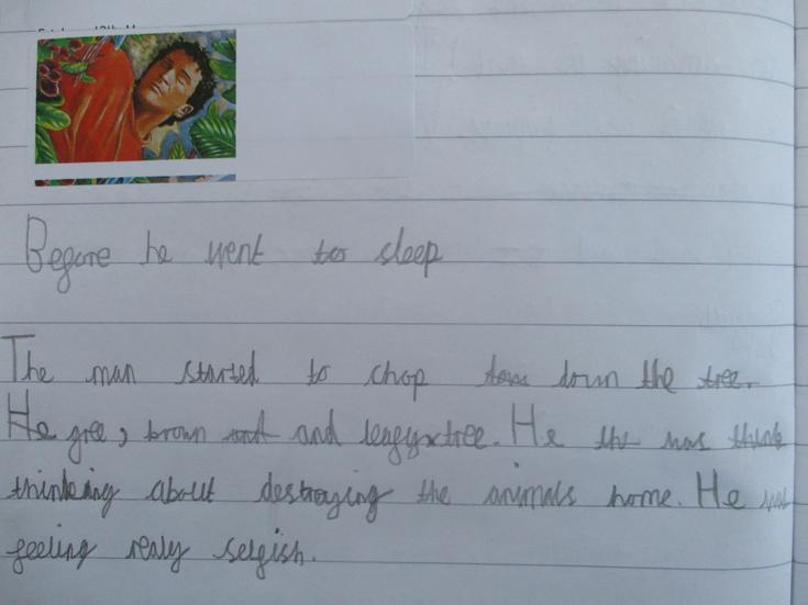 Writing about our new story