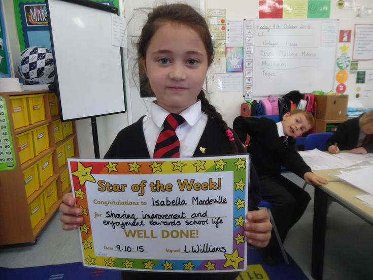 Our Star of the Week is Isabella, well done