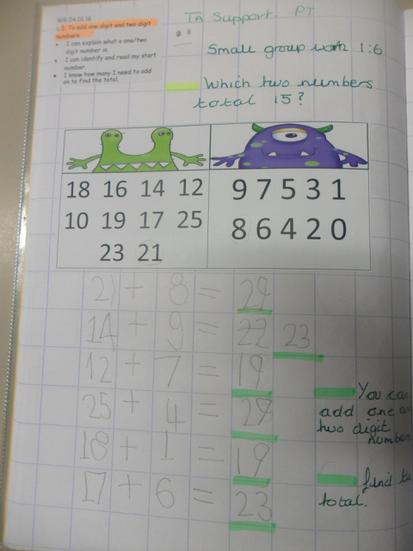 Riley was super at adding these numbers together!