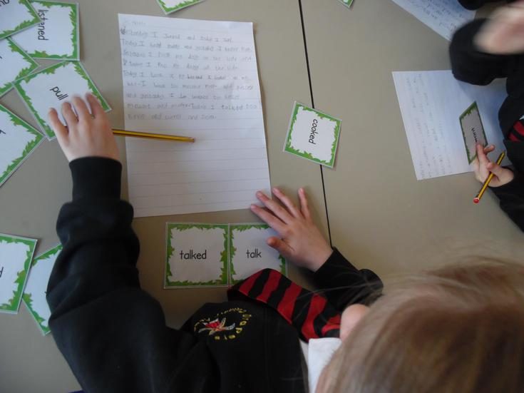 Learning to use the -ed suffix