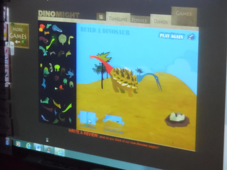 Creating ICT dinosaurs & using adjectives!