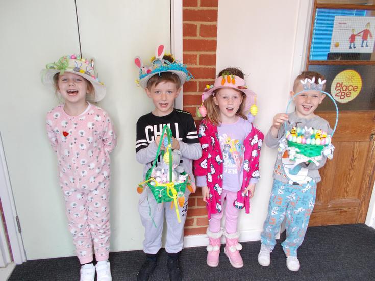 Our Easter Bonnet/Basket participants.