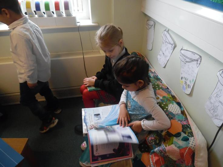 Reading together is fun