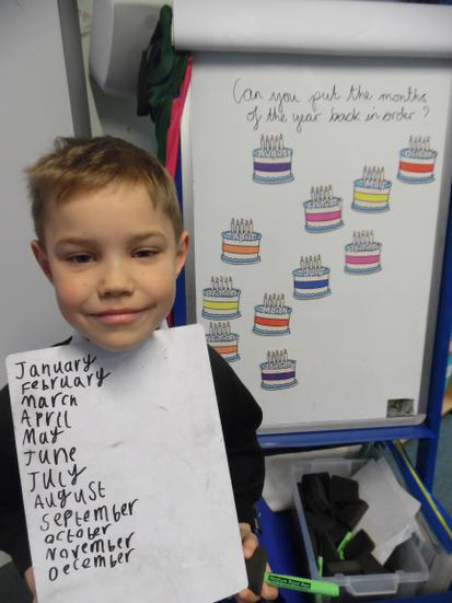Early learning-Impeccable ordering and spelling!