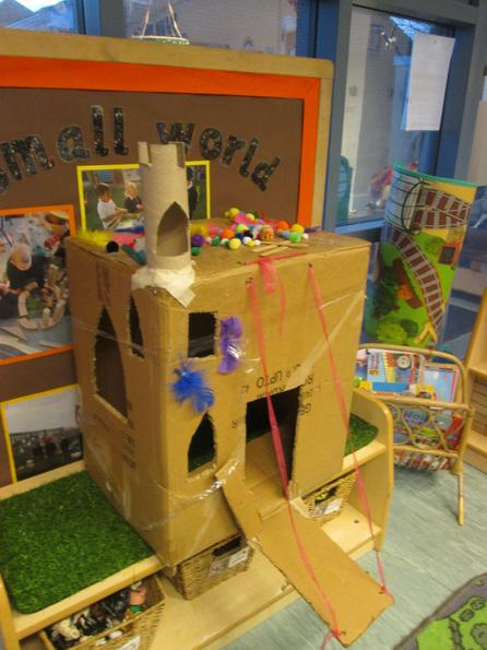 Team effort to design Princess Pearl's castle, admire our great drawbridge!
