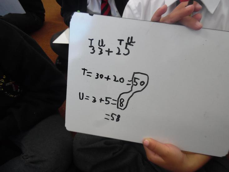 Adding by partitioning in Maths!