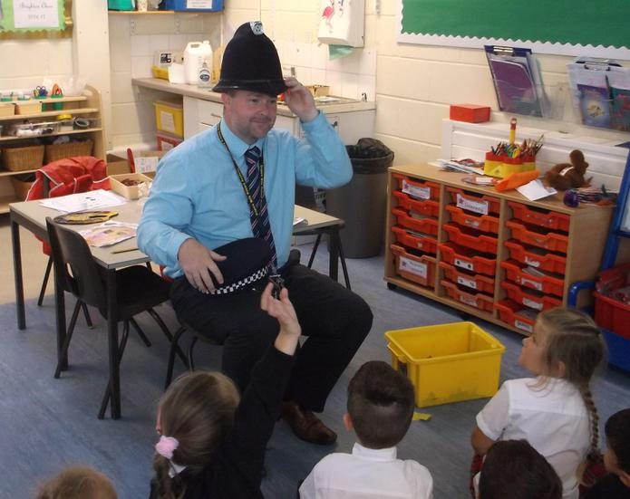 Mr Wilson explained what police officers wear.