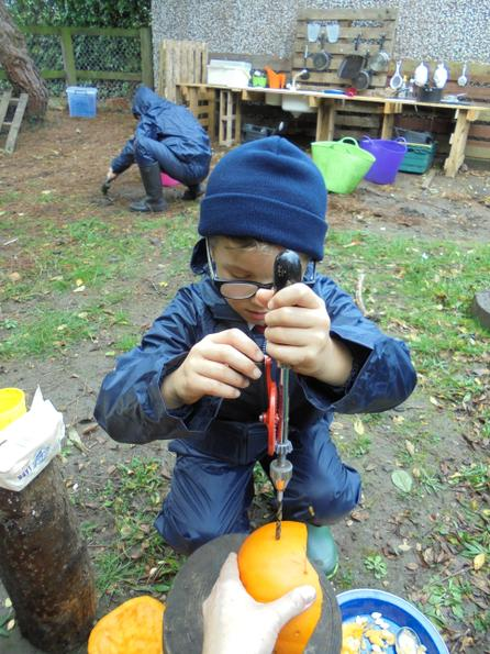 Using a hand drill safely