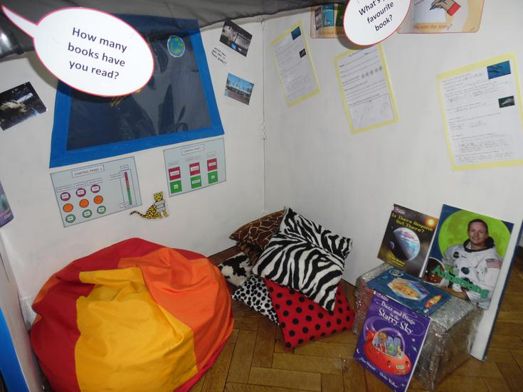 Leopards Class Space Station Reading Corner