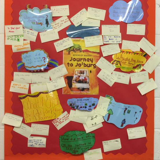 Our literacy learning wall