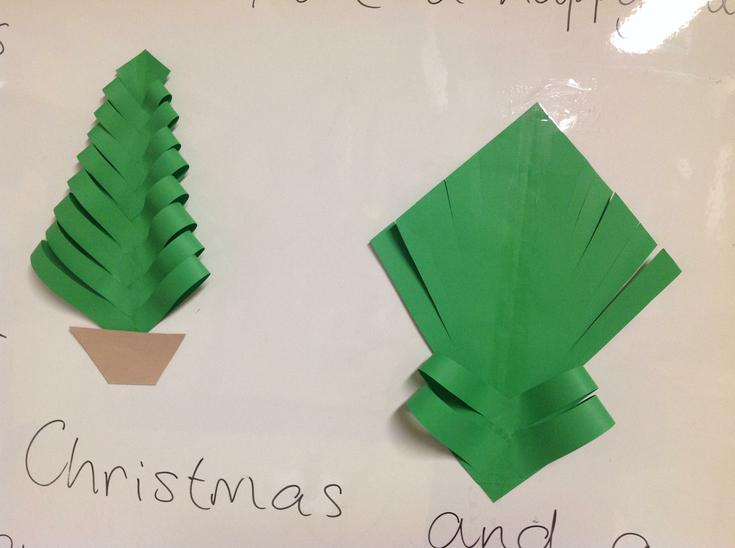Making a Christmas tree.