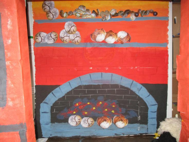 the bakery's open fire