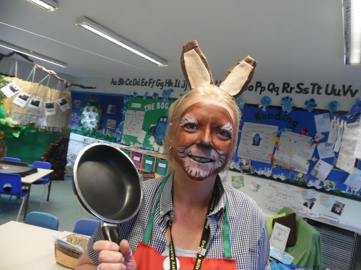 Fun activities with Mrs Wolf's Pancakes story