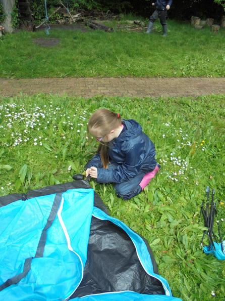 Learning how to put up a tent