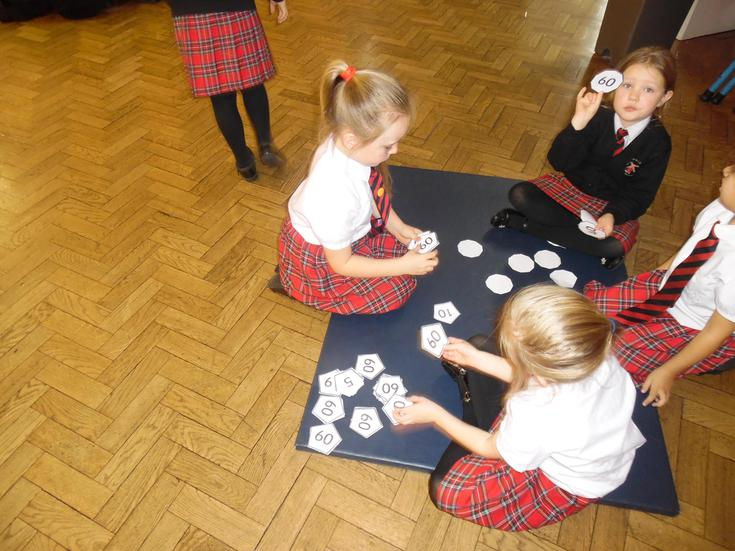 Maths activities completed in groups