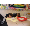 Pupils doing their independent warm write.