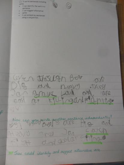 Wow! Lots of verbs in this piece of writing.