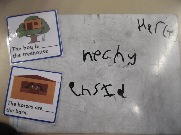 Positional words practice in guided reading