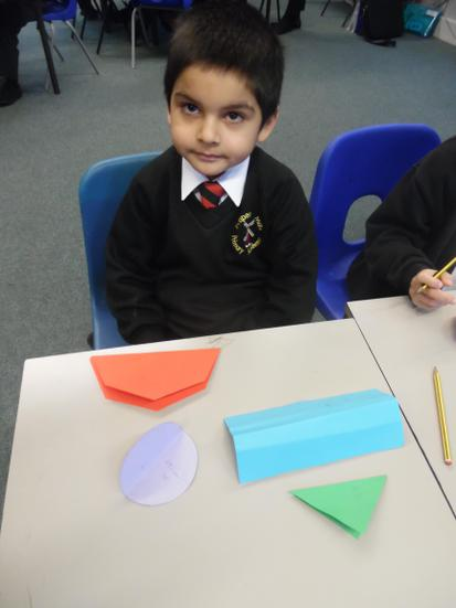 Folding shapes to understand halving