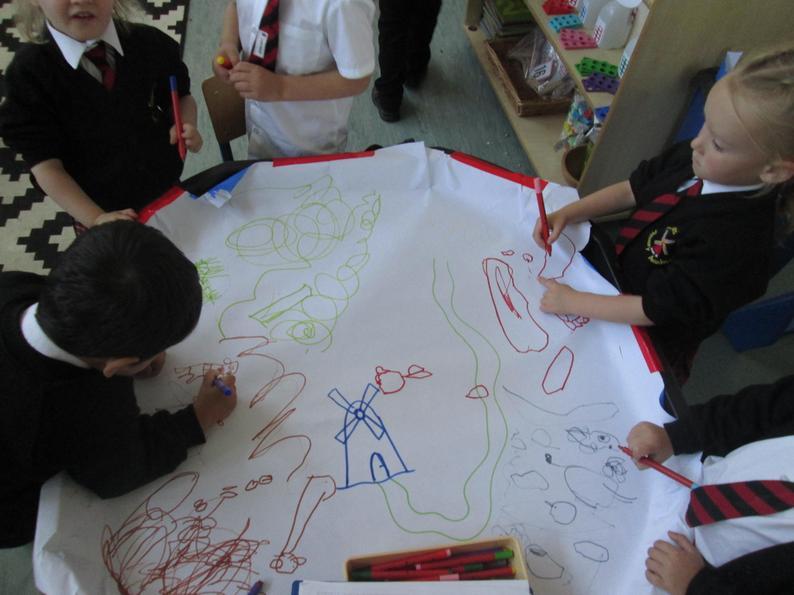 Little Red Hen story map