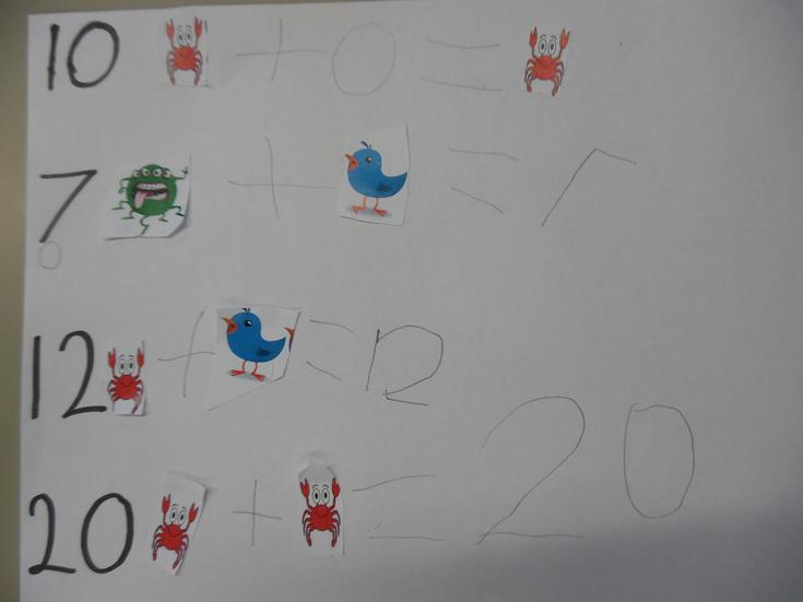 Combining animal legs to make numbers