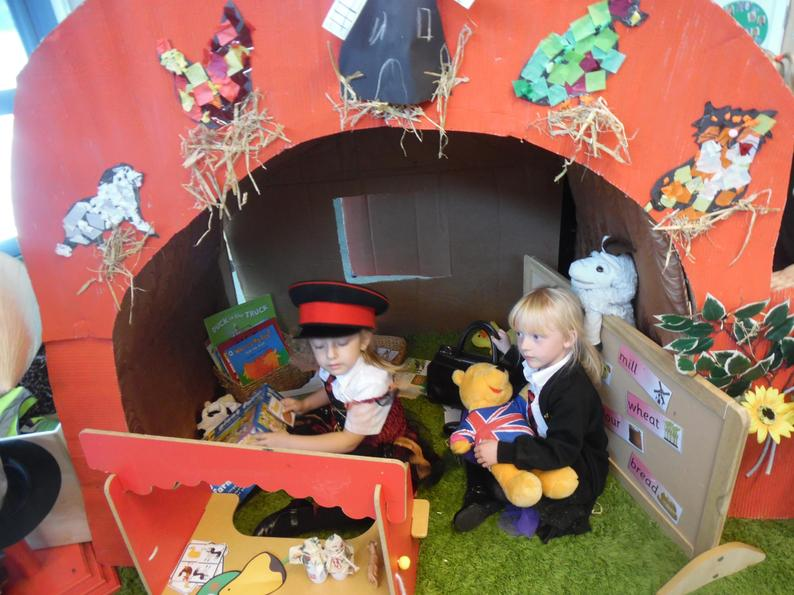 The children have opened a farm shop!