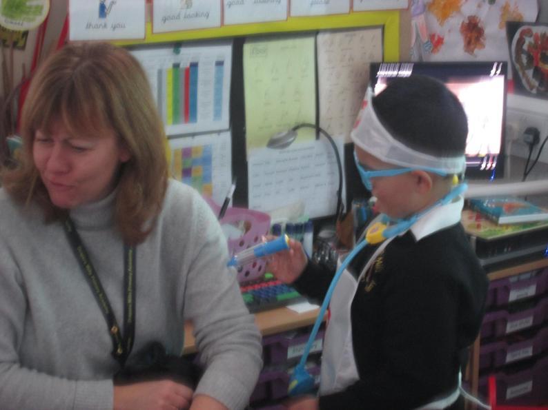 Mrs Baker received her flue jab