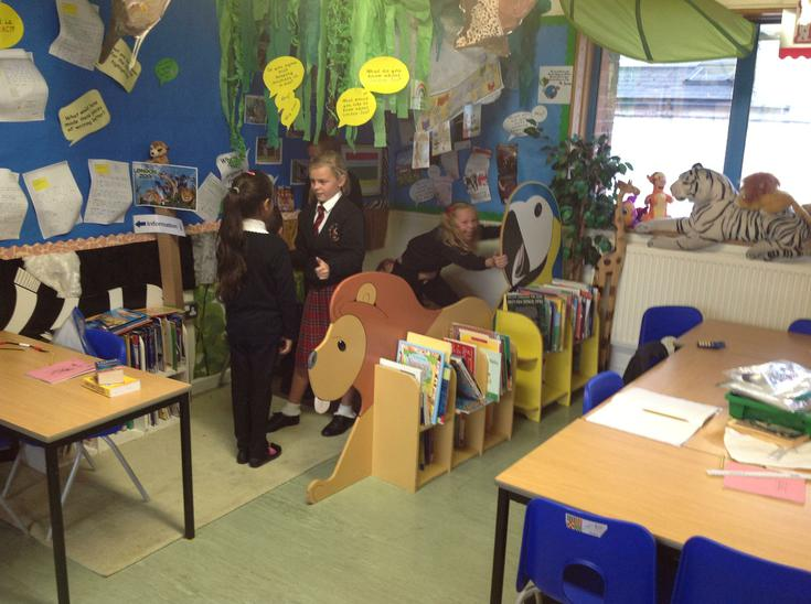 Embedding a story through role-play.