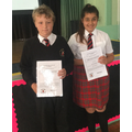 Our Year 6 Sylvia Plumstead award winners