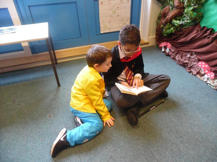 Reading with year 5 buddy