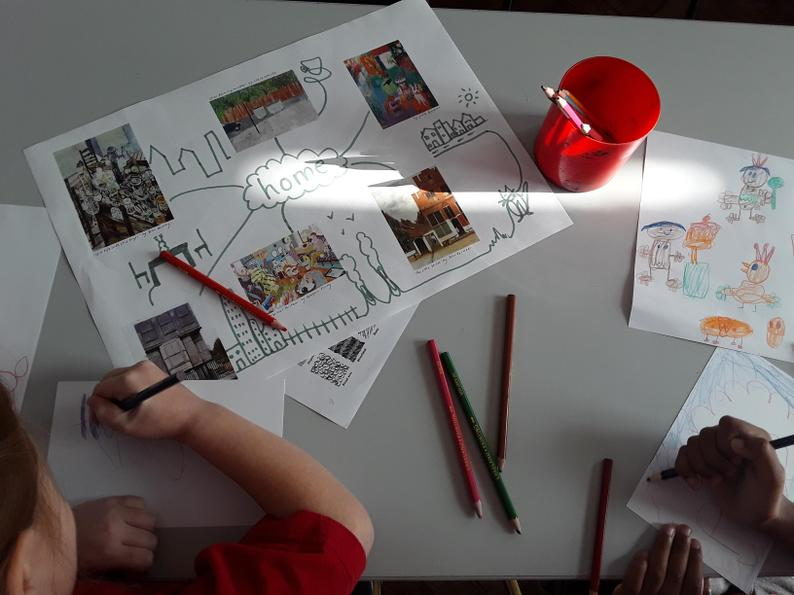 We thought about what home means to us, including sounds, smells and colours.
