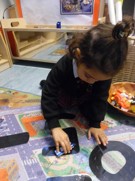 Number formation with toy cars