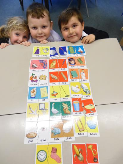 Rhyming game in guided reading