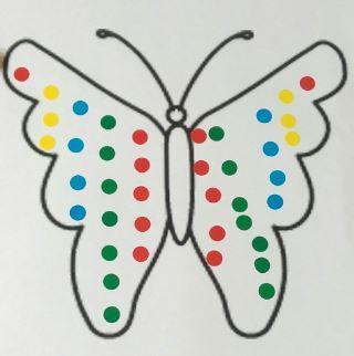 Use stickers to create symmetry