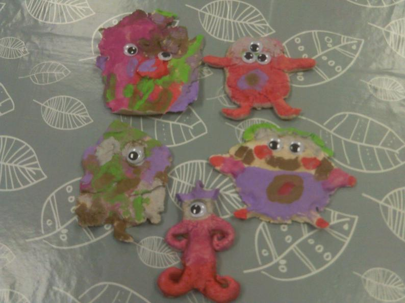 Salt dough worry monsters