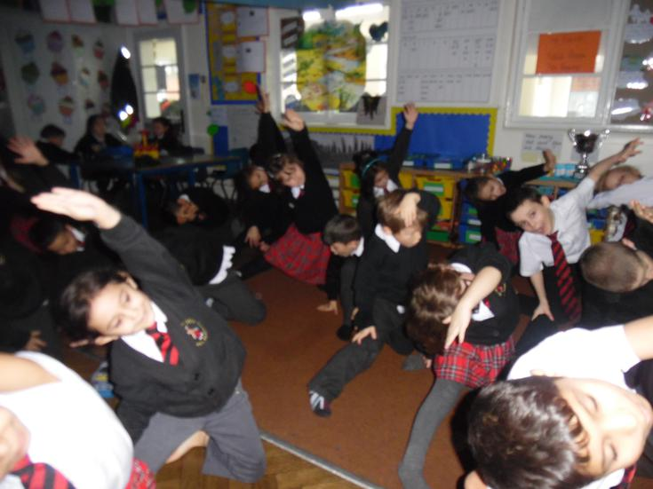 Keeping fit with 'in class' yoga!