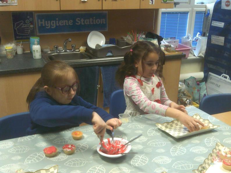 Preparing food for the Mad Hatter's Tea Party