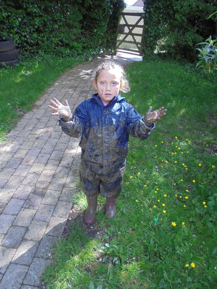 She was very pleased with the mud play :)