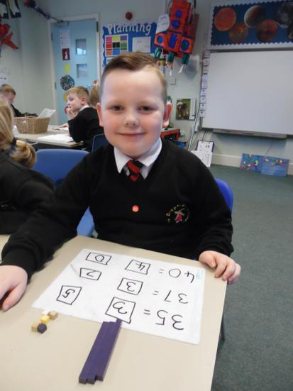 Recording partitioning in number sentences