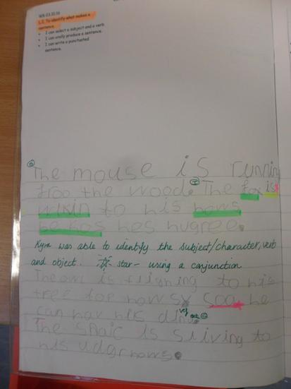 We used subjects, verbs and conjunctions.