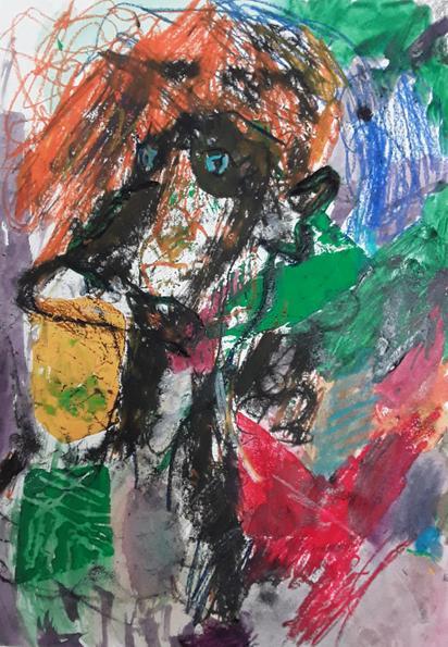 1st place - Richard's Picasso style portrait