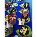 We are working hard to segment and write words.