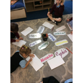 We are working hard to learn how to recognise our names.