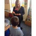 A corn snake visited school!