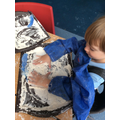 We had lots of fun making marks in the flour!